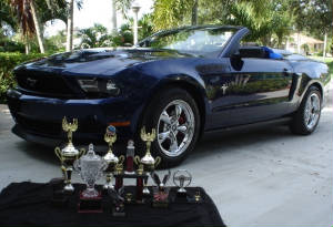 Trophies for car show