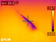 infrared photo of moisture spot